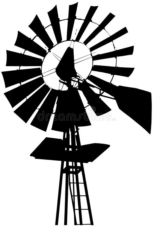 607x900 Clipart Windmill Silhouette