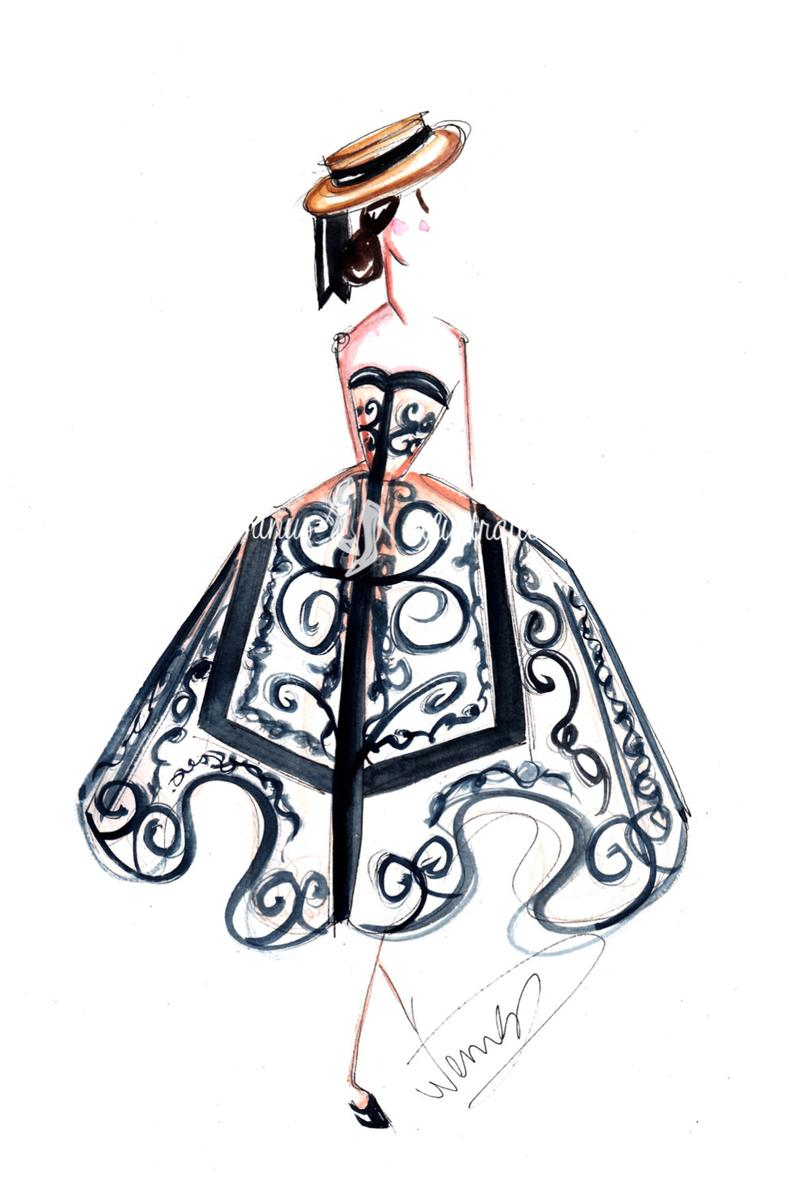 794x1192 fashion illustration fashion sketch fashion drawing etsy