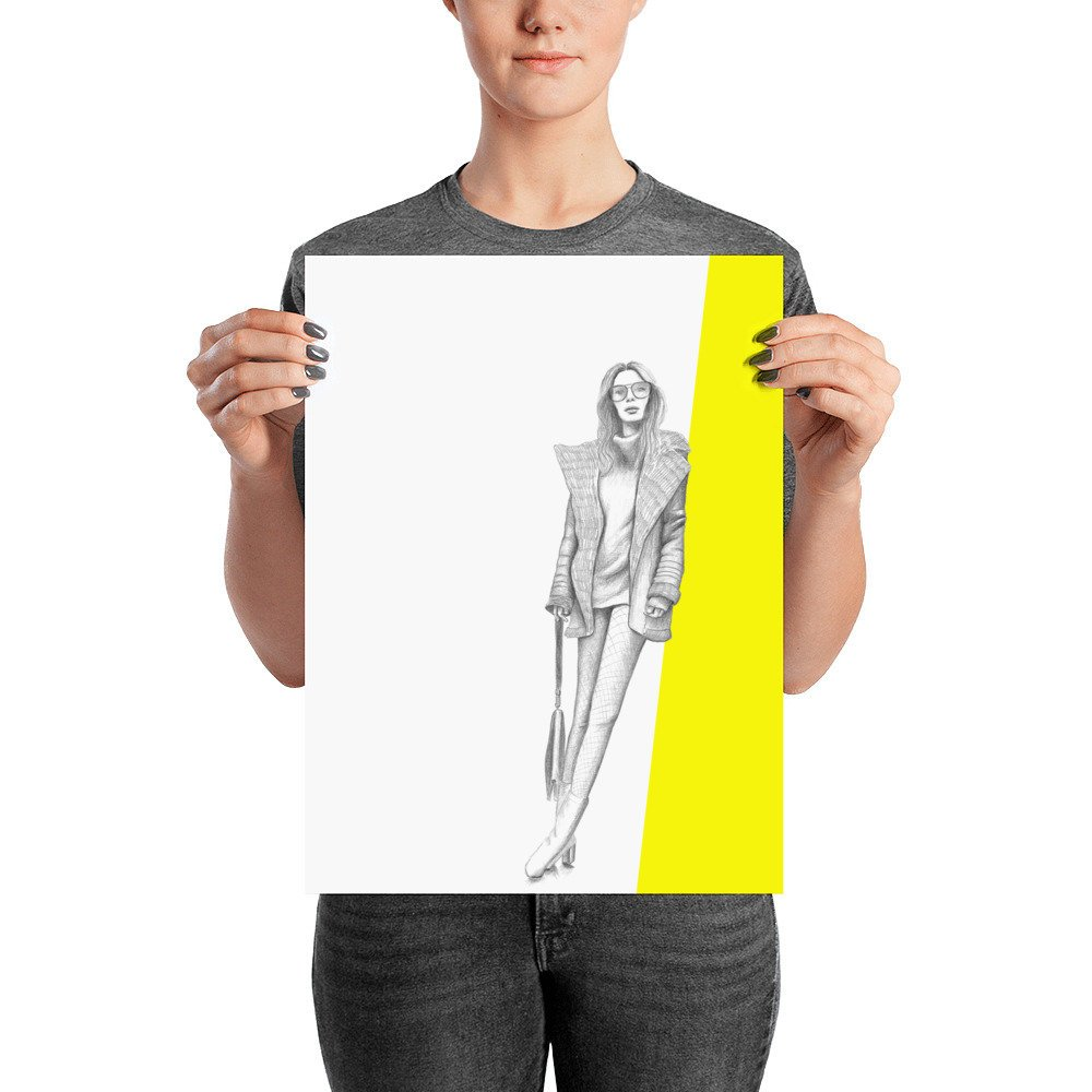 1000x1000 fashion wall art fashion poster fashion illustration etsy