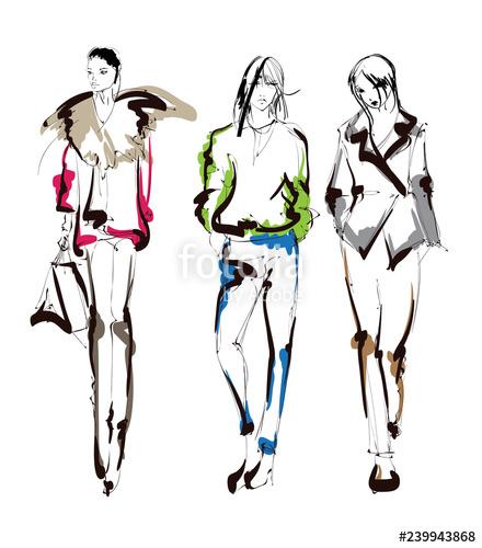 440x500 fashion girls sketch fashion illustration drawing fashion models