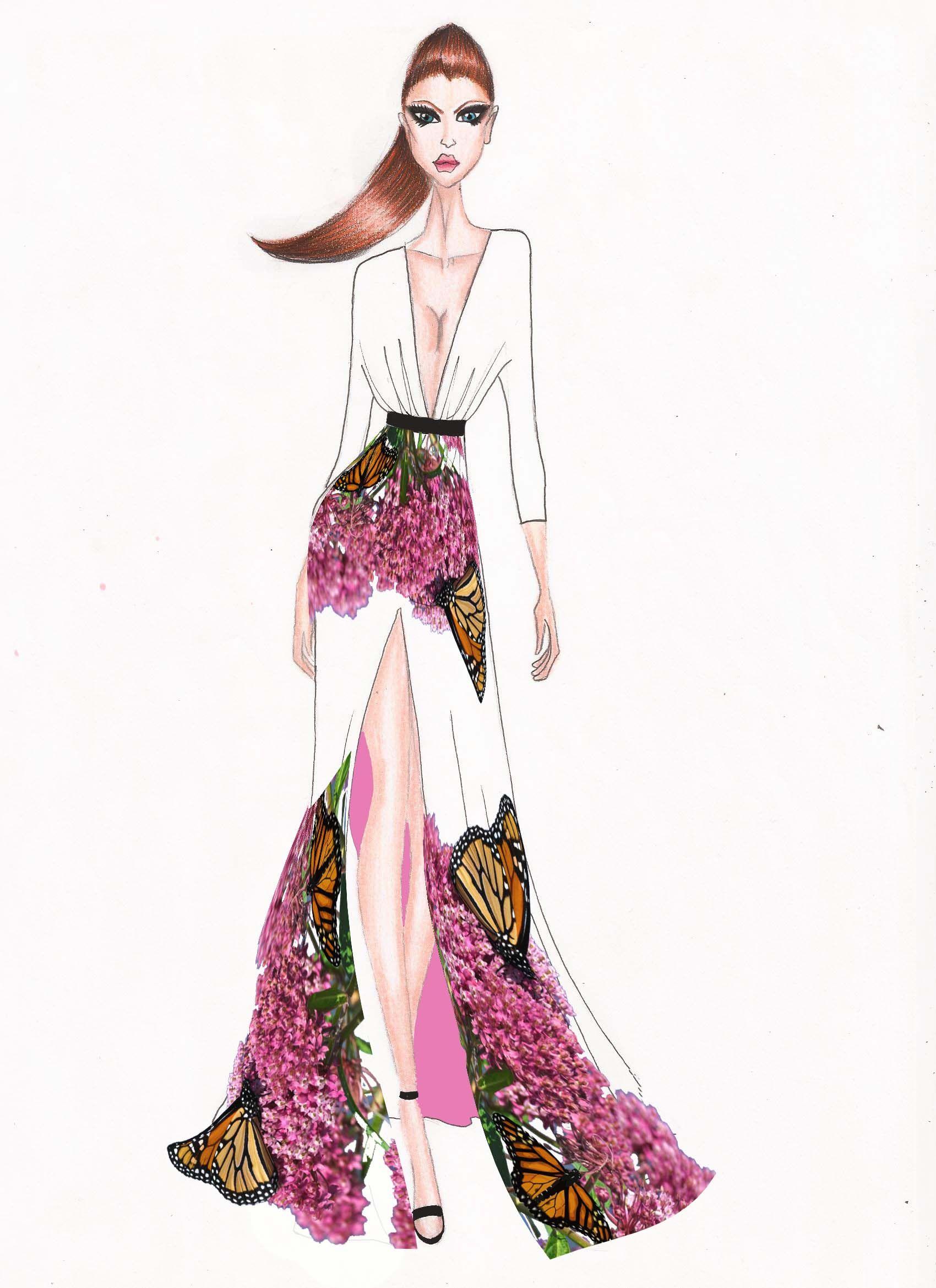1700x2338 fashion illustration drawn in fashion art, fashion