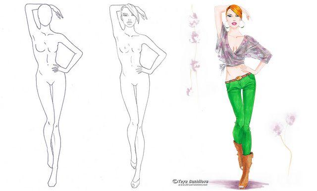 640x385 elevation of a fashion pose how draw fashion fashion