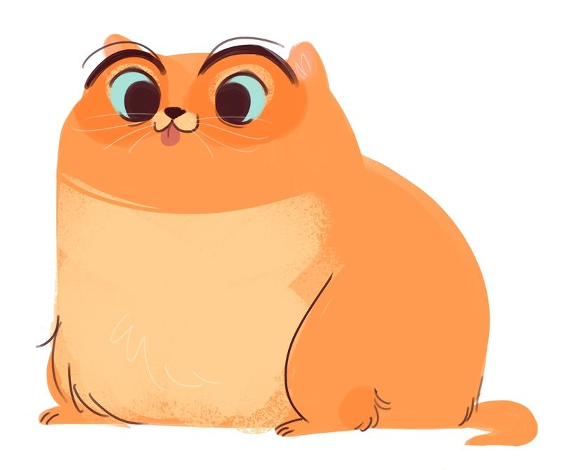 Fat Cat Drawing