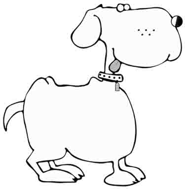 375x383 magical dog coloring pages of poochies, bowwows, flea bags, mutt