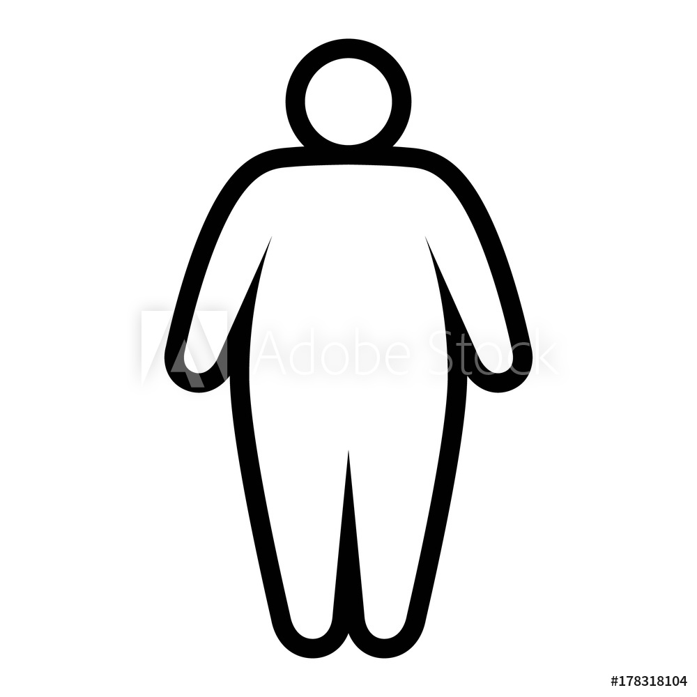 1000x1000 fotografie, obraz fat obese person facing obesity epidemic line