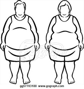 350x367 morbidly obese over pounds overweight clipart drawing