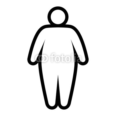 400x400 fat obese person facing obesity epidemic line art vector icon