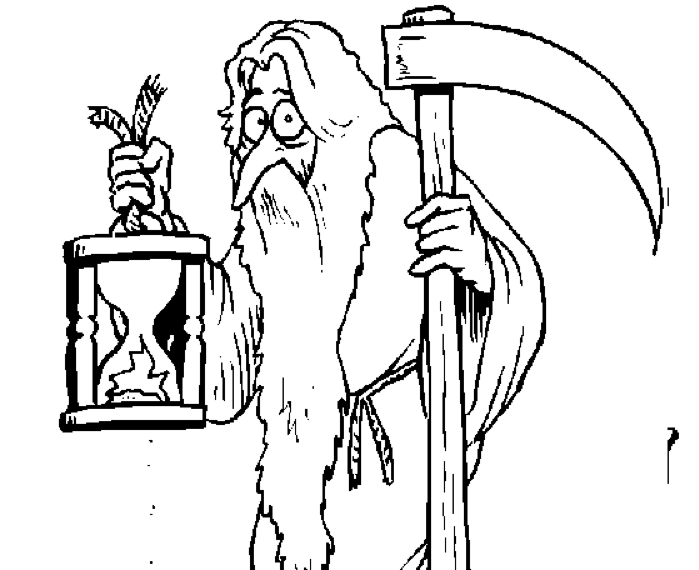 Father Time Drawing