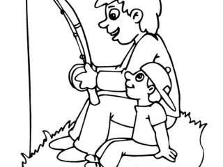 320x240 father and son coloring pages happy fathers day father and son go