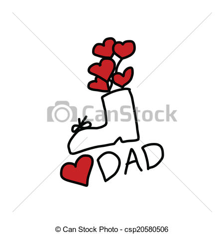 450x470 happy father's day cartoon hand drawing happy father's day hand