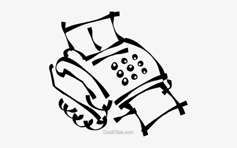 820x512 Fax Machine Royalty Free Vector Clip Art Illustration