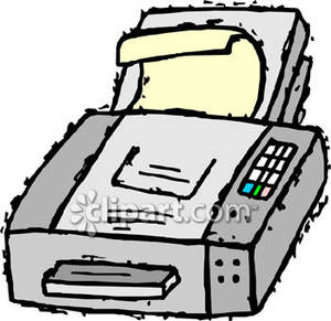 Fax Machine Drawing