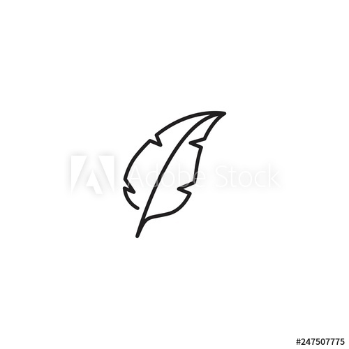500x500 Feather, Feather Pen Icon