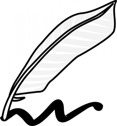 394x425 Feather Pen Clip Art Free Vector In Open Office Drawing