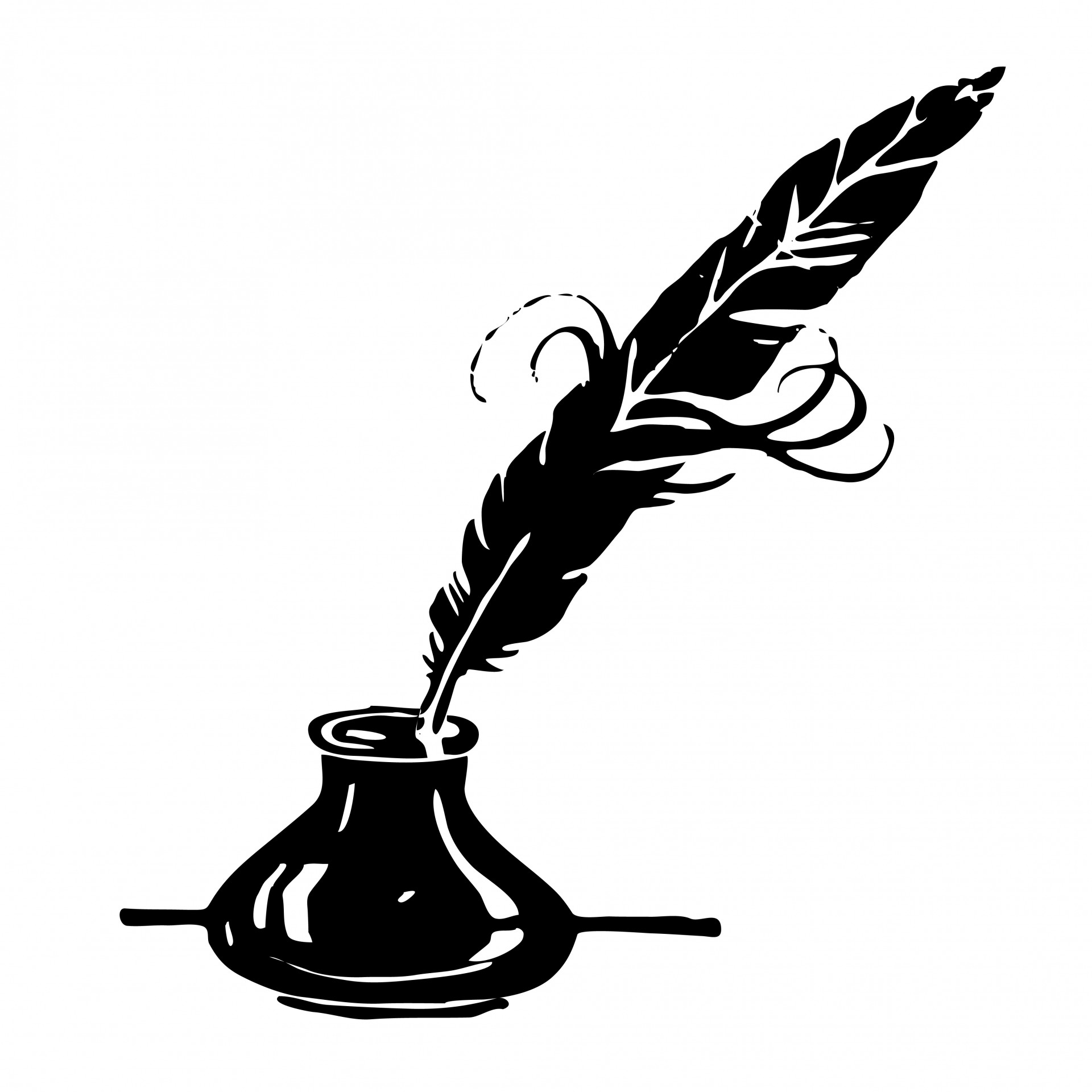 1920x1920 Ink, Ink Pot, Pen, Feather, Quill
