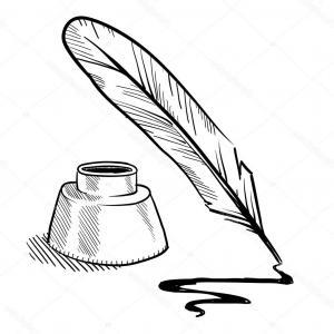 300x300 Stock Illustration Writing Feather Pen Vector Icon Hoodamathrun