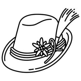 260x260 download hat clipart fedora hat drawing