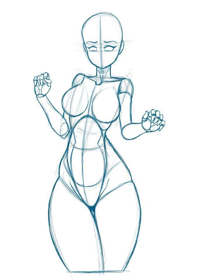 695x960 Female Figure Scrapbooking Drawings, Figure