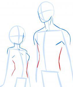 253x302 How To Draw Anime Anatomy, Step