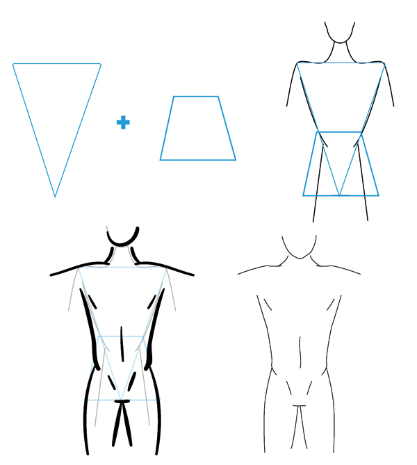 600x669 How To Draw Different Body Types For Males And Females