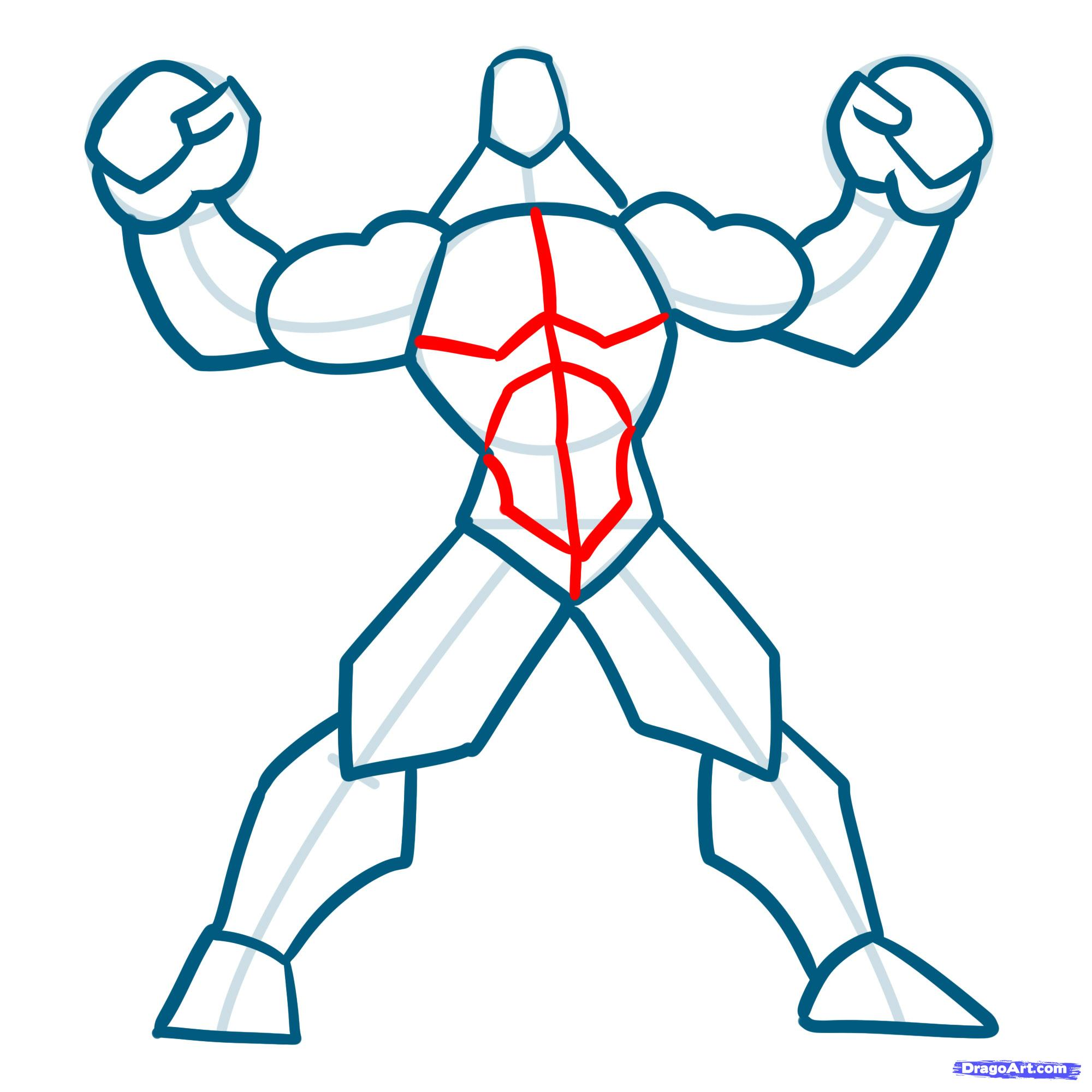 2000x2000 How To Draw Muscles, Step