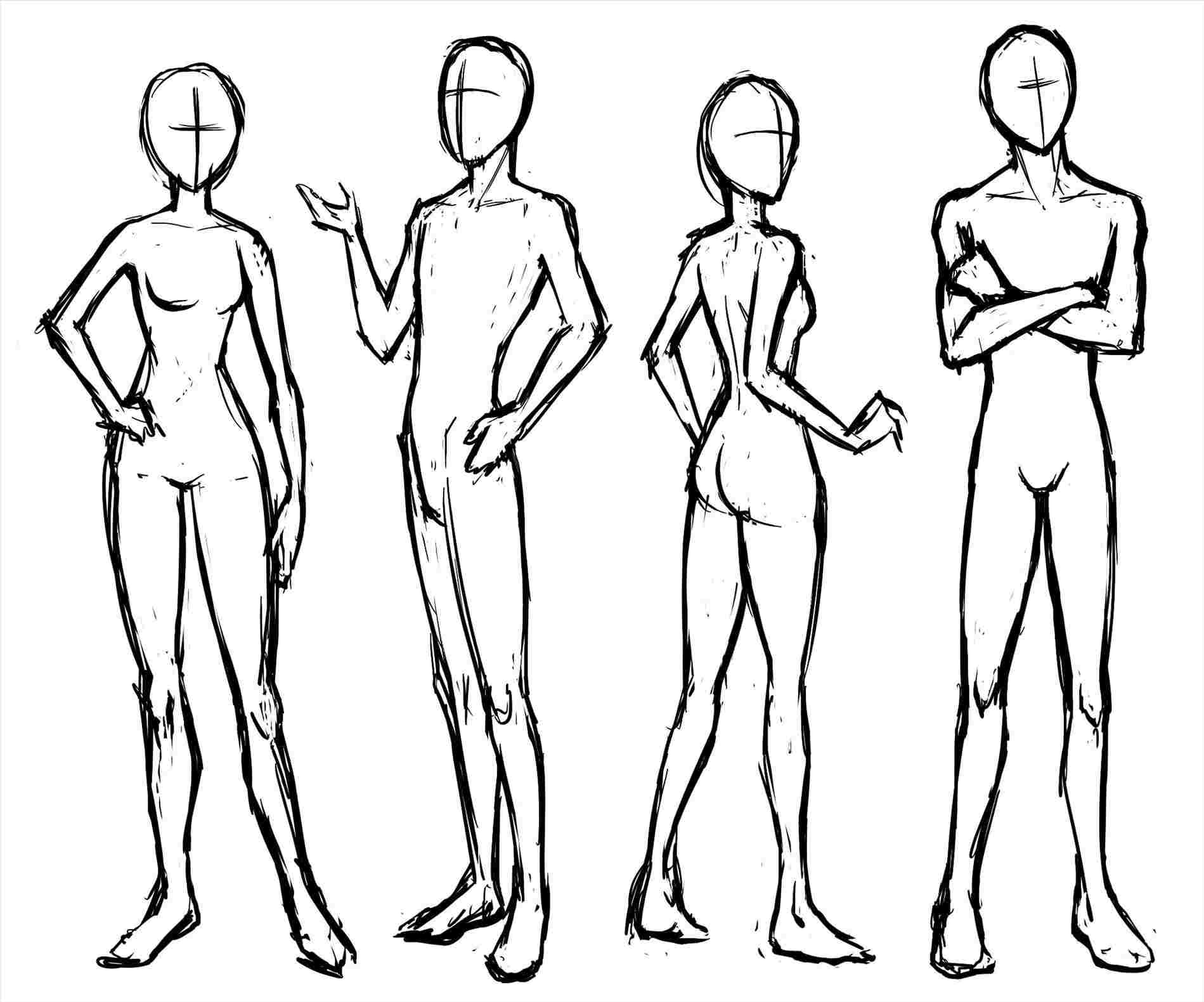 Female Body Drawing | Free download best Female Body Drawing
