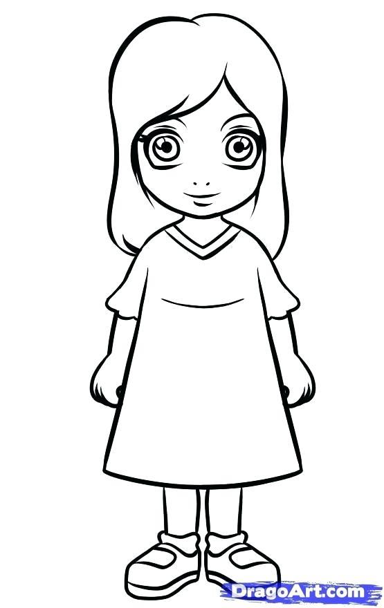 555x880 How To Drow A Girl Girl Drawing