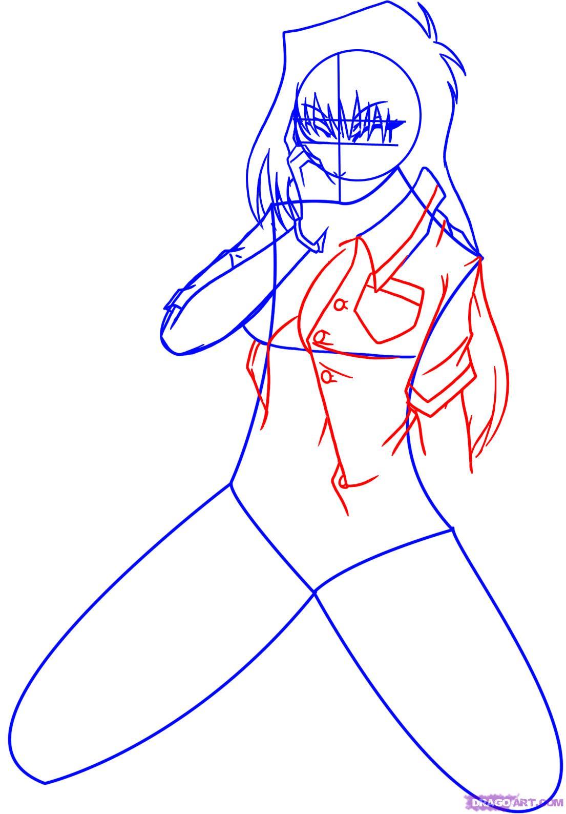1105x1588 How To Draw Anime Girls, Step