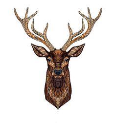 235x251 awesome deer head tattoo images deer, deer head tattoo, drawings