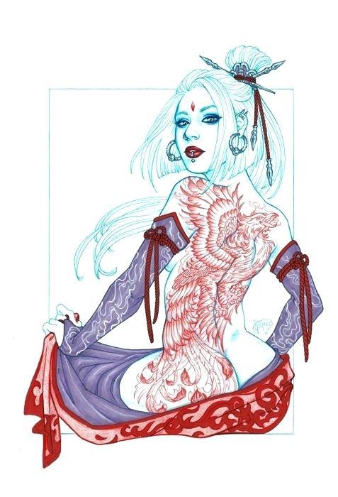 477x700 Geisha Drawing Geisha Drawing