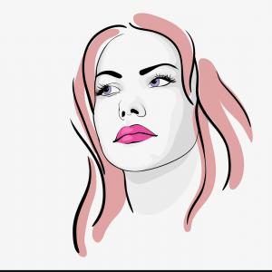 300x300 Pop Art Woman Portrait Women With Black Hair And Dark Eyes Vector