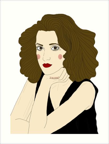 413x549 Winona Ryder Veronica Sawyer Heathers Drawing Art Prints