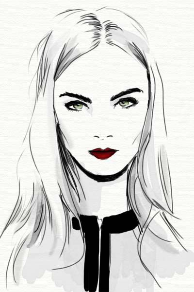 400x600 Love The Line Work In Her Hair Love All Of Her Illustration Art