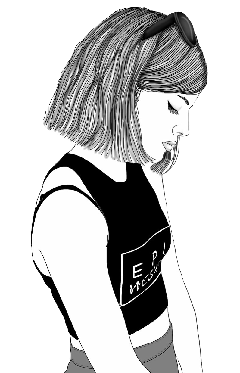 797x1239 Collection Of Free Female Drawing Hipster Download On Ui Ex