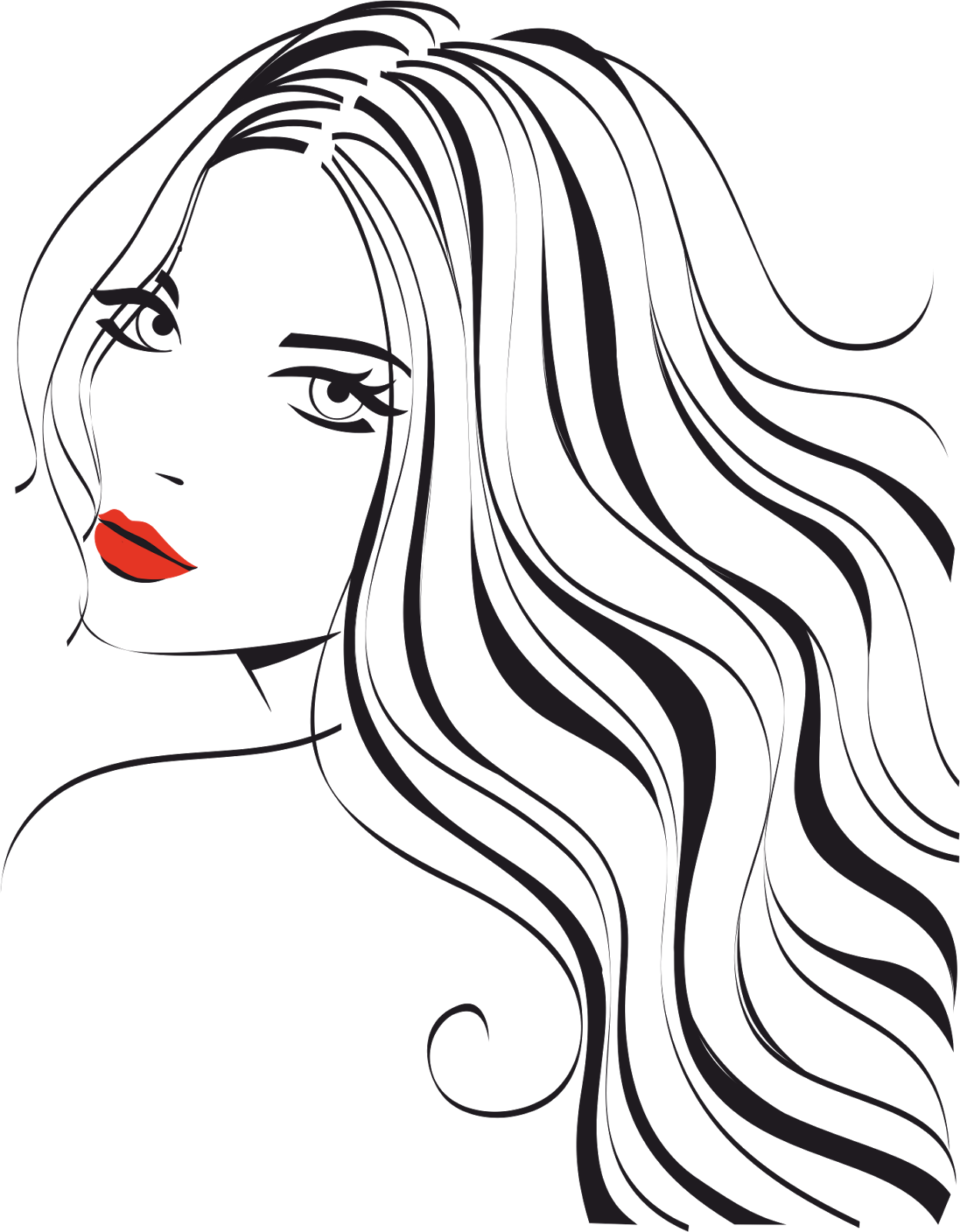 1247x1600 Collection Of Free Silhouette Drawing Female Face Download On Ui Ex
