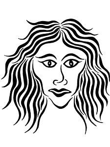 225x300 Female Face Drawings