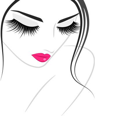 400x400 Female Face Closeup Art Print