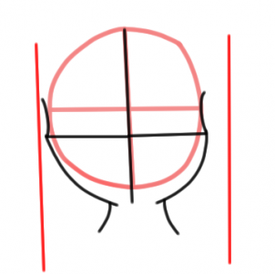 302x301 How To Draw An Anime Female Face, Step