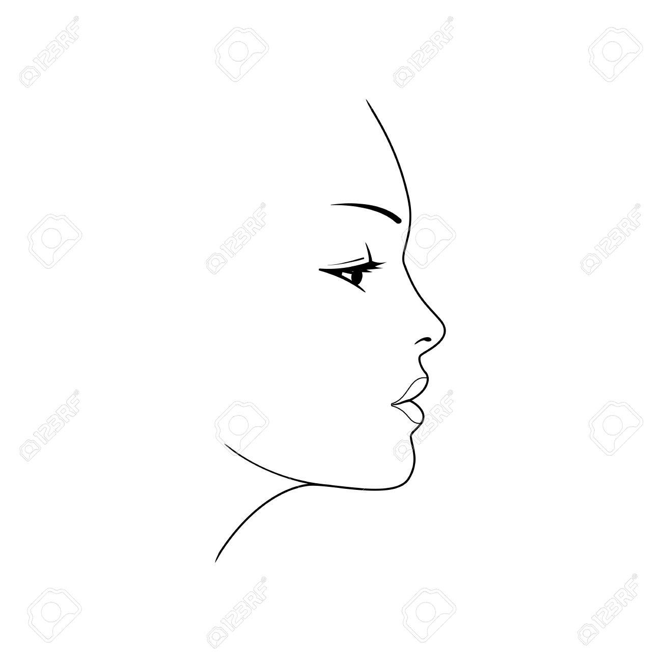 1300x1300 Huge Collection Of 'female Face Silhouette' Download More Than