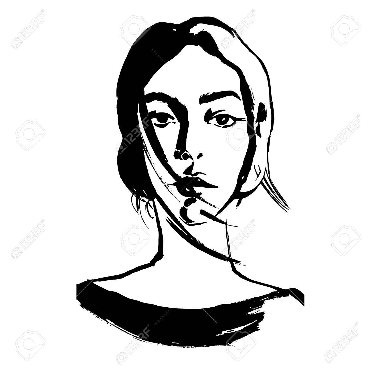 1300x1300 abstract woman drawing abstract woman drawing abstract woman face