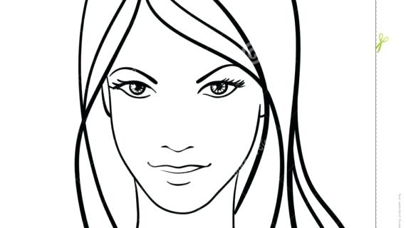 570x320 Simple Face Drawing Picture Of Draw A Simple Female Face Drawing