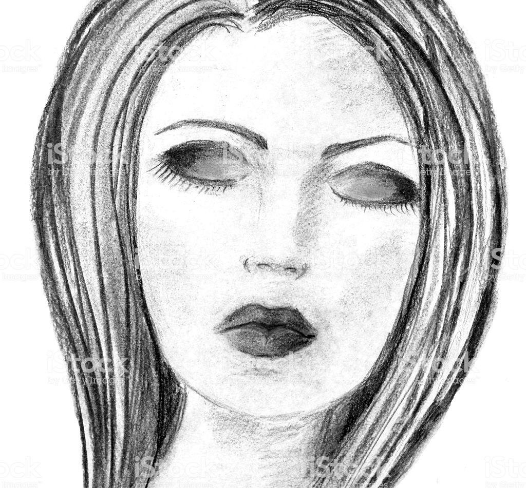 1024x951 Closed Eyes Face Drawing Anime Sad Woman Challenge Digital Carmi