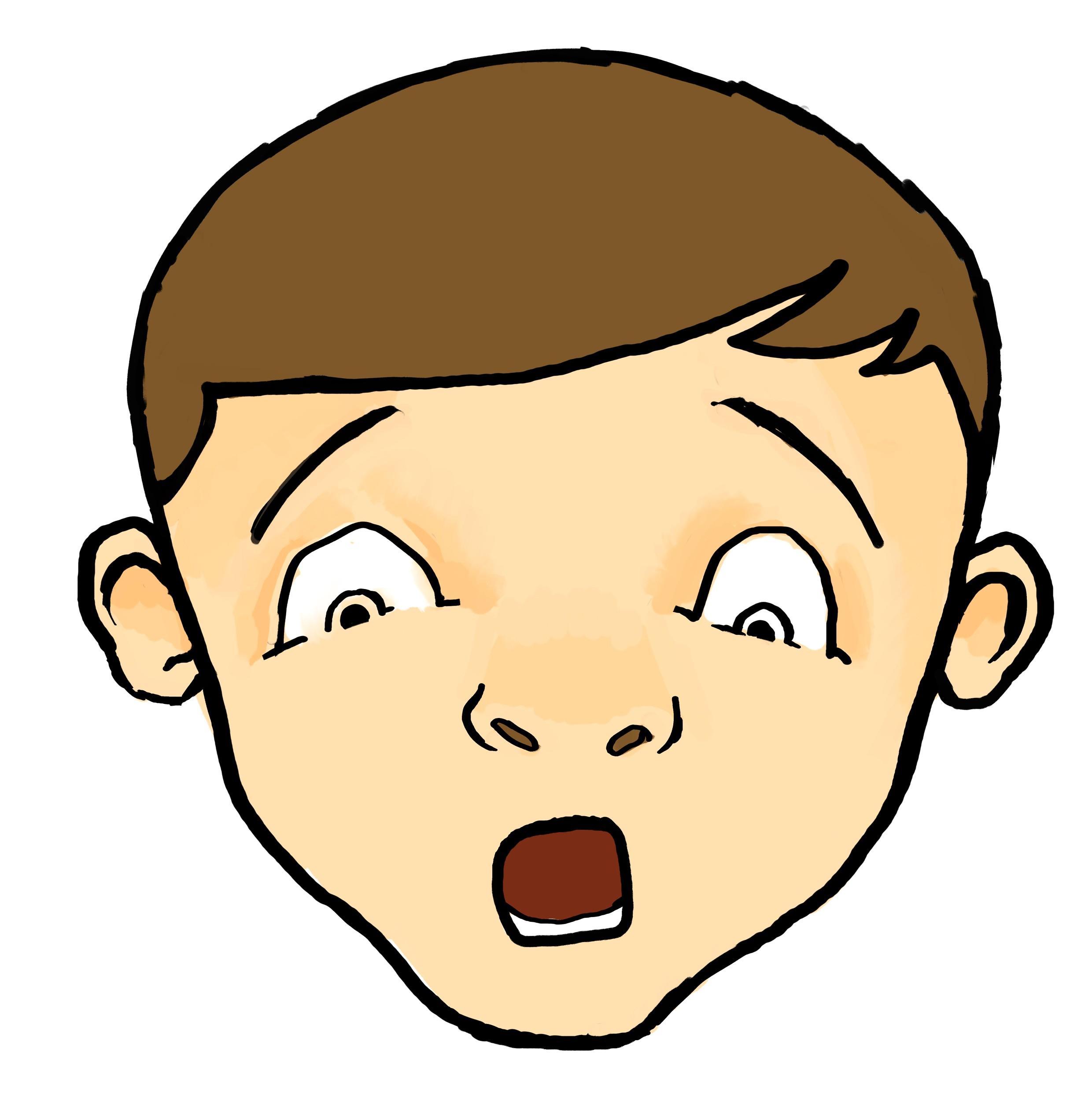 2480x2501 Cartoon Shocked Female Face