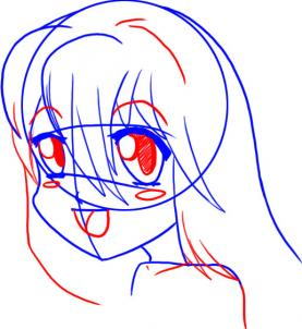 277x302 How To Draw Manga Style Female Faces, Step