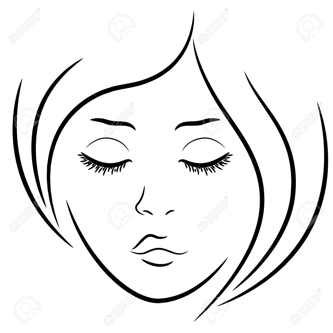 1300x1300 Huge Collection Of 'face Drawing Outline' Download More Than