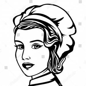 300x300 Stock Photo Face Of Beautiful Woman Sketch Portrait Black