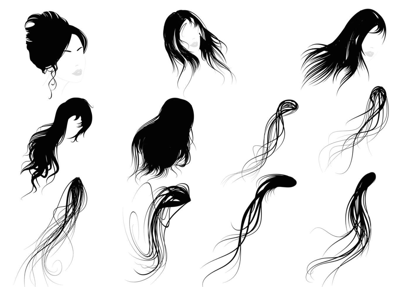1400x980 female hair brushes pack ps brushes hair brush, hair vector