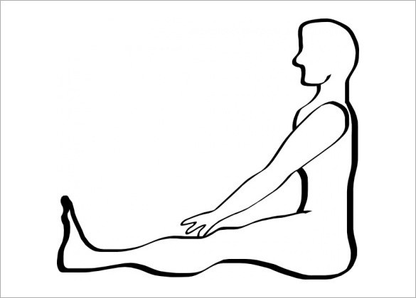 Female Human Body Outline Drawing