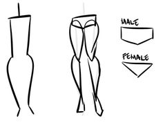 Female Legs Drawing