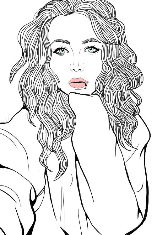 500x750 Image About Girl In Draw